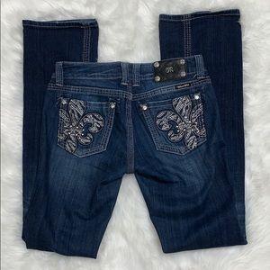 Miss me easy boot jeans for Buckle Fleur de lis
